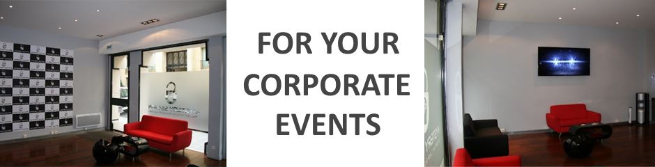 For your company events